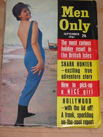 Tilleys Vintage Magazines : MEN ONLY MAGAZINE SEPTEMBER 1961 BACK