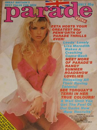 PARADE MAGAZINE NUMBER 59 ISSUE 1987 VINTAGE ADULT MENS GLAMOUR PUBLICATION FOR SALE CLASSIC IMAGES