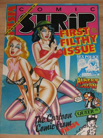 FIESTA COMIC STRIP MAGAZINE NUMBER 1 ISSUE FOR SALE 1989 VINTAGE ADULT MENS ...
