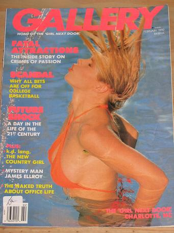 GALLERY MAGAZINE FEBRUARY 1990 ISSUE FOR SALE VINTAGE ADULT MENS GLAMOUR PUBLICATION CLASSIC IMAGES