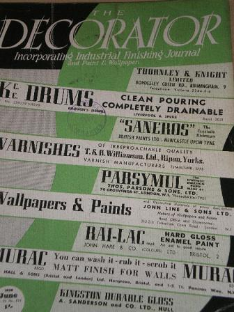 The Decorator Magazine June 1954 Issue For Painting And Decorating Design
