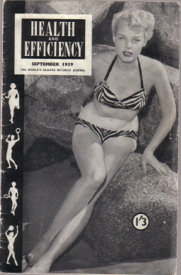 SCARCE COLLECTABLE BACK ISSUE HEALTH & EFFICIENCY NATURIST MAGAZINE SEPTEMBER 1959  PUBLICATION FOR