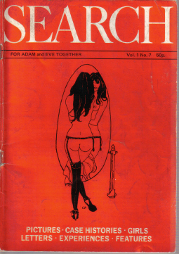 SEARCH MAGAZINE VOLUME 1 NUMBER 7 SCARCE 1970S FETISH VINTAGE COLLECTABLE BACK ISSUE PUBLICATION FOR
