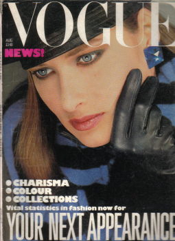 Tilleys Vintage Magazines : VOGUE AUG 1983 COLLECTIONS OLD