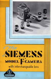 ORIG SIEMENS MODEL F CAMERA BROCHURE VINTAGE