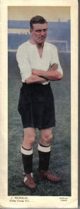 DERBY FC J NICHOLAS TOPICAL TIMES 1930S ORIG FOOTBALLERS CARD