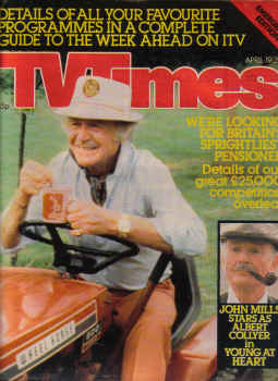 TV TIMES MAG AP 19 to 25 1980 JOHN MILLS SCARCE EM