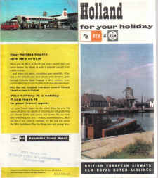 BEA VINTAGE HOLIDAY BROCHURE 1960S VISCOUNT HOLLAND