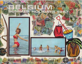 ORIG BELGIUM HOLIDAYS BROCHURE 1967 SUMMER TRAVEL