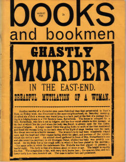 BOOKS AND BOOKMEN AUG 1965 JACK RIPPER GHASTLY MURDER