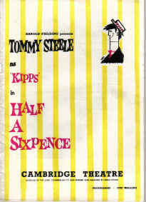 1963 CAMBRIDGE THEATRE PROGRAMME TOMMY STEELE KIPPS