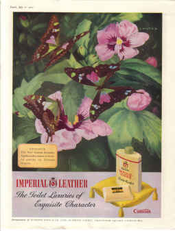 ORIG 1951 CUSSONS IMPERIAL LEATHER MAG AD TOILET LUXURIES