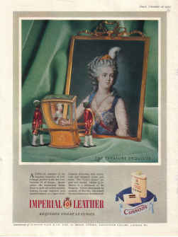 ORIG 1952 CUSSONS IMPERIAL LEATHER MAG AD EXQUISITE TOILET LUXURIES