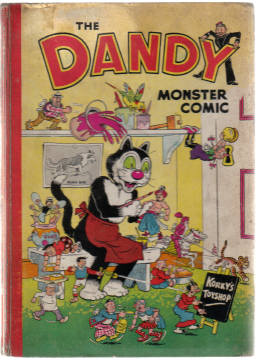 DANDY MONSTER COMIC 1952 ANNUAL KORKYS TOYSHOP