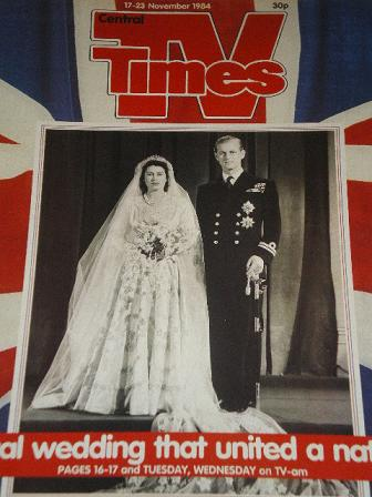 TV TIMES magazine, 17 - 23 November 1984 issue for sale. BRITISH ROYALTY. Original BRITISH INDEPENDE