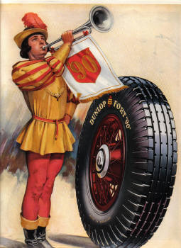 DUNLOP FORT 90 ORIG 1935 MAG AD GREATEST TYRE