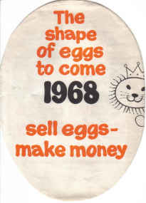 ORIG EGGS BROCHURE 1968 SERVE EGGS SAVE MONEY