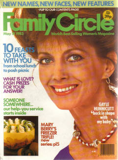 GAYLE HUNNICUTT FAMILY CIRCLE MAGAZINE MAY 18 1983 BACK ISSUE FOR SALE VINTAGE WOMENS PUBLICATION PR