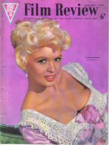 FILM REVIEW MAGAZINE JANUARY 1959 BACK ISSUE FOR SALE JAYNE MANSFIELD BYGRAVES ODOWDA VINTAGE MOVIE