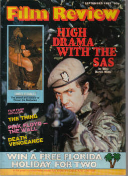 FILM REVIEW MAG SEP 1982 LEWIS COLLINS SCHWARZENEGGER FLOYD VINTAGE MOVIE COLLECTABLE PUBLICATION FO