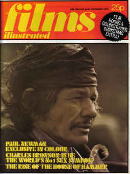 FILMS ILLUSTRATED magazine December 1972. BRONSON, HOUSE OF HAMMER. Pure nostalgia archives. The pas