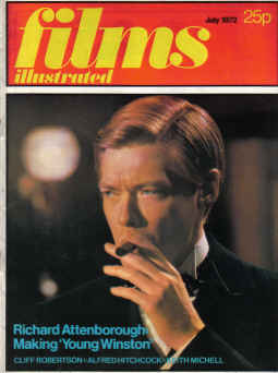 FILMS ILLUSTRATED magazine July 1972. HITCHCOCK, WARD, ATTENBOROUGH, POWELL. Classic images of the t