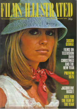 FILMS ILLUSTRATED magazine January 1975. SUSAN GEORGE, BISSET, LOREN. Classic images of the twentiet