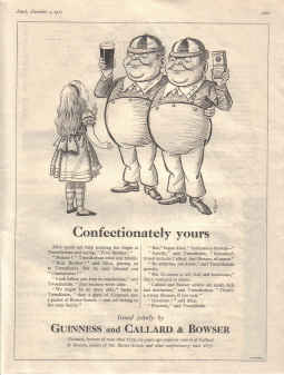 ORIG 1957 GUINNESS MAG AD GE2945E CONFECTIONATELY YOURS CALLARD&BOWSER