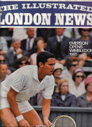 ILN MAG JLY 3 65 WIMBLEDON LAWN TENNIS EMERSON VIETNAM ILLUSTRATED LONDON NEWS