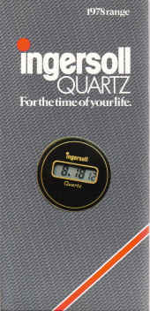 INGERSOLL QUARTZ WATCH BROCHURE 1978 RANGE