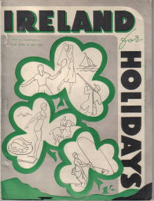 ORIG IRELAND FOR HOLIDAYS BROCHURE 1950S THOMAS COOK