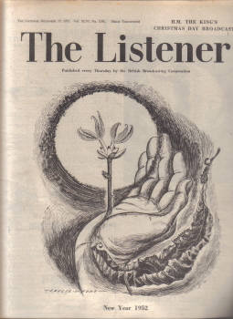 LISTENER MAG DEC 27 1951 CHURCHILL COOKE  STREETER WILLIAMS VINTAGE BBC PUBLICATION FOR SALE CLASSIC