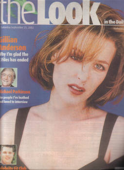 THE LOOK SEP 21 2002 GILLIAN ANDERSON TV GUIDE PARKINSON