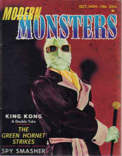 MODERN MONSTERS MAG ISSUE 4 OCT/NOV 1966 KING KONG