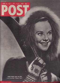 PICTURE POST OCT 30 1943 MINING SONJA HENIE SKI-ING