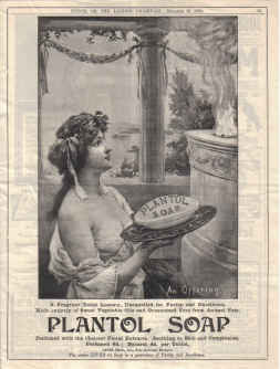 ORIG 1904 PLANTOL SOAP MAG AD LEVER BROTHERS PORT SUNLIGHT