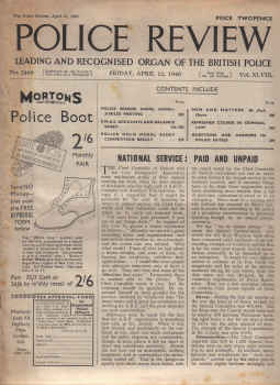 POLICE REVIEW MAG AP 12 1940 HOVE