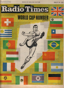 RADIO TIMES JULY 9 TO 15 1966 SCARCE WORLD CUP NUMBER FOOTBALL
