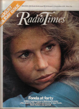 RADIO TIMES 26 AUG TO 1 SEP 1978 JANE FONDA