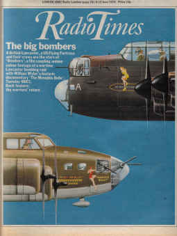 RADIO TIMES MAG JUN 9 TO 15 1979 LANCASTER FLYING