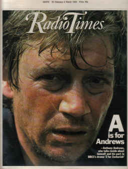 RADIO TIMES FEB 25 TO MAR 2 1984 ANTHONY ANDREWS CHESTERFIELD