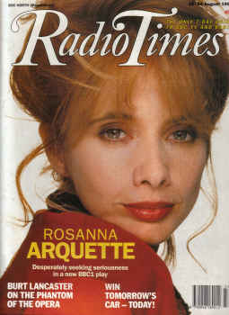 RADIO TIMES MAG AUG 18 to 24 1990 ROSANNA ARQUETTE