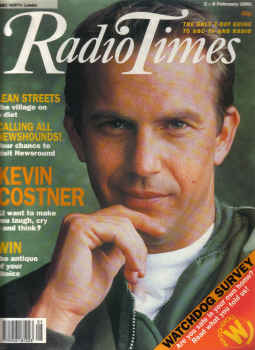 RADIO TIMES MAG 2 to 8 FEB 1991 KEVIN COSTNER