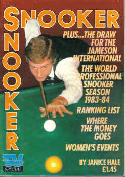 SNOOKER TV TIMES SPECIAL 1983 WORLD PROFESSIONAL S