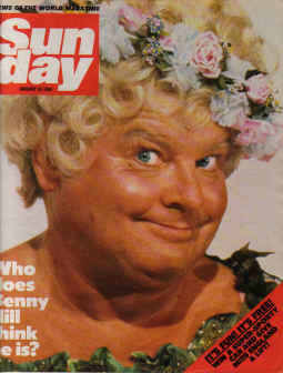 SUNDAY MAG JAN 15 1984 BENNY HILL LESLIE ASH