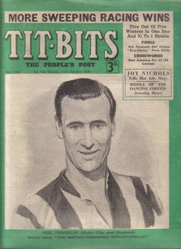 TITBITS OCT 11 1949 NEIL FRANKLIN STOKE CITY FC JOY NICHOLS ENGLAND