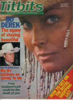 TITBITS AUG 9 1980 BO DEREK FRANKIE HOWARD PIPS JR