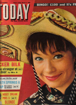 TODAY MAR 2 1963 SHIRLEY MACLAINE MICKEY SPILLANE ACKER BILK