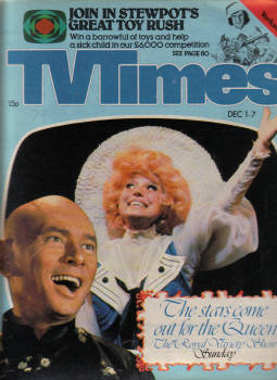 CHARLIES ANGELS TV TIMES DEC 1 TO 7 1979 YUL BRYNER MIKE AND BERNIE WINTERS
