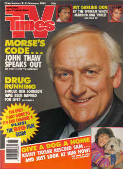TV TIMES MAG FEB 2 to 8 1991 JOHN THAW MORSE JOHNS